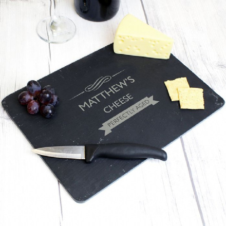 Personalised Perfectly Aged Slate Cheeseboard